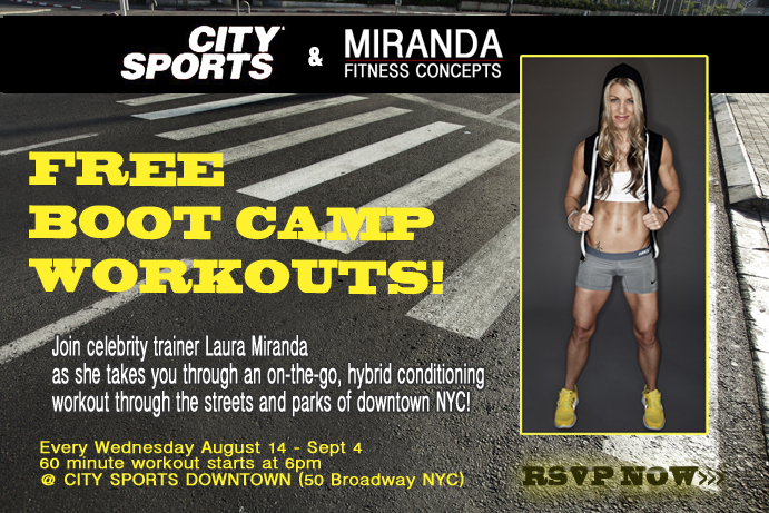 City Sports workout with Laura Miranda