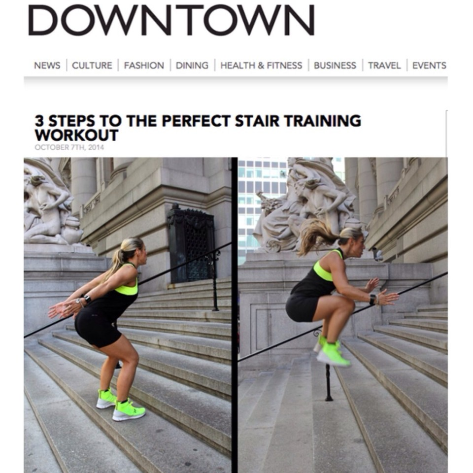 Downtown Stair Training Workout