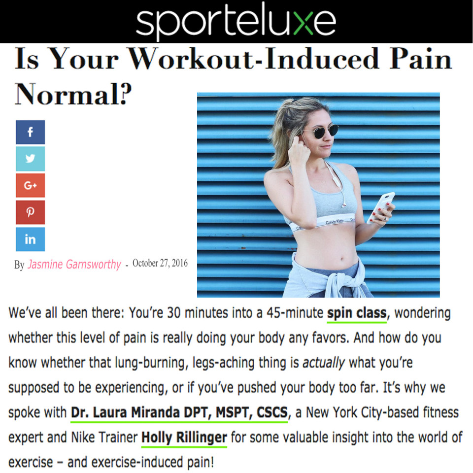 Is Workout Induced Pain Normal Sportelux with Dr. Laura Miranda