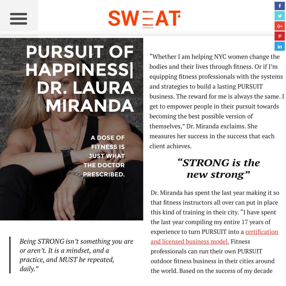 Sweat Magazine PURSUIT Dr. Laura Miranda