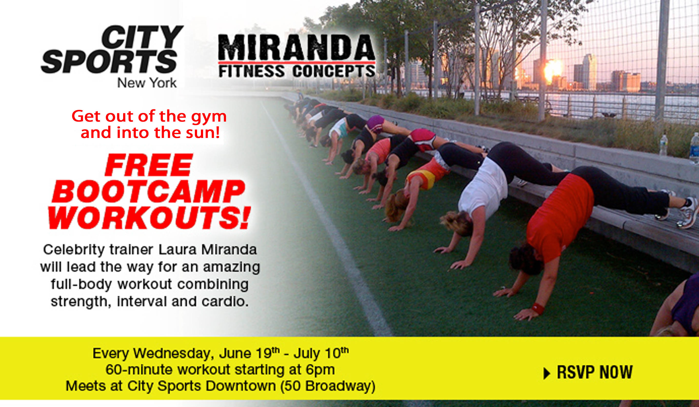 ... Miranda launch FREE NYC Boot Camp for Summer » Strong Healthy Woman
