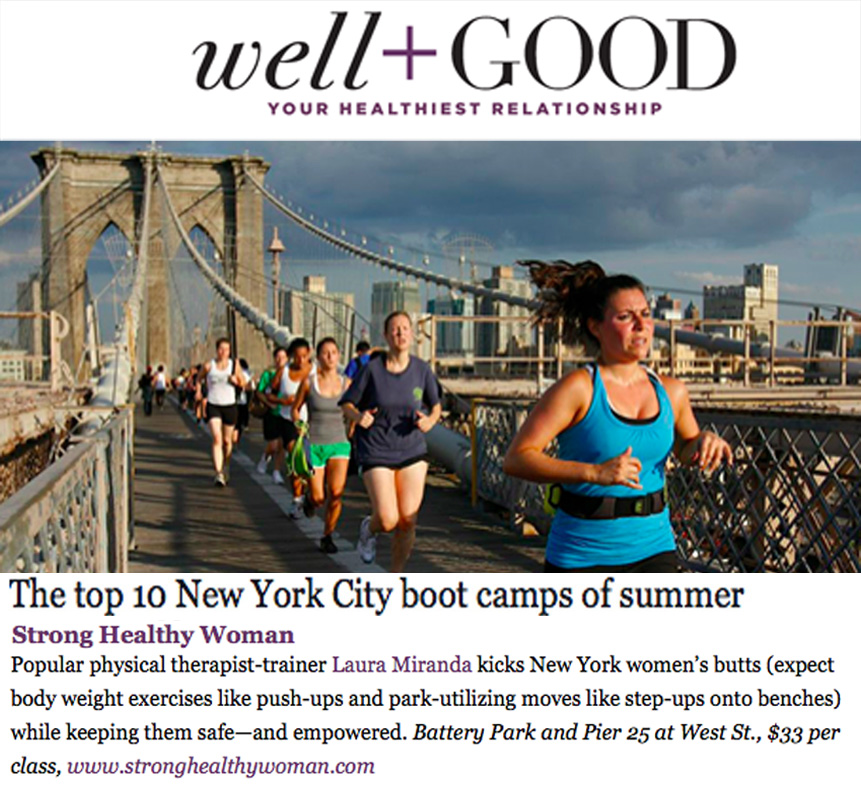 StrongHealthyWoman Boot Camp in WellandGoodNYC