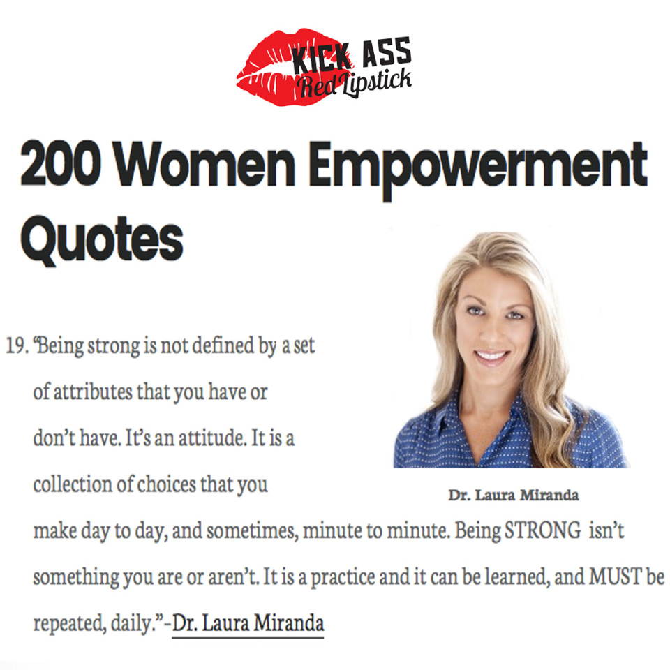 Dr. Laura Miranda featured in women empowerment quotes