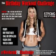 Birthday Workout Challenge Weekendfitchallenge