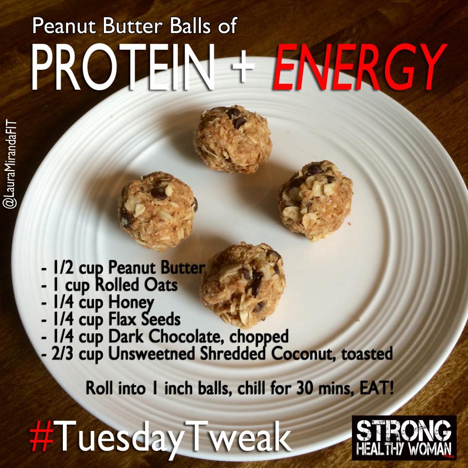 Tuesday Tweak Protein Balls