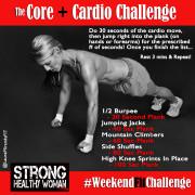 Core and Cardio Challenge Weekendfitchallenge