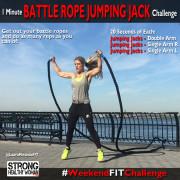 Battle Rope Jumping Jacks WeekendFitChallenge
