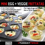 mini veggie and egg frittatas Tuesday Tweak